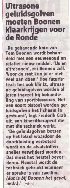 Artikel Nieuwsblad 27/03/2013