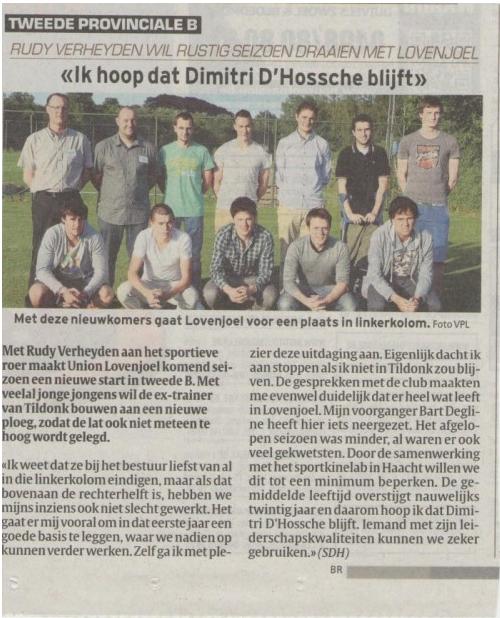 Samenwerking Sportkinelab met Union Lovenjoel